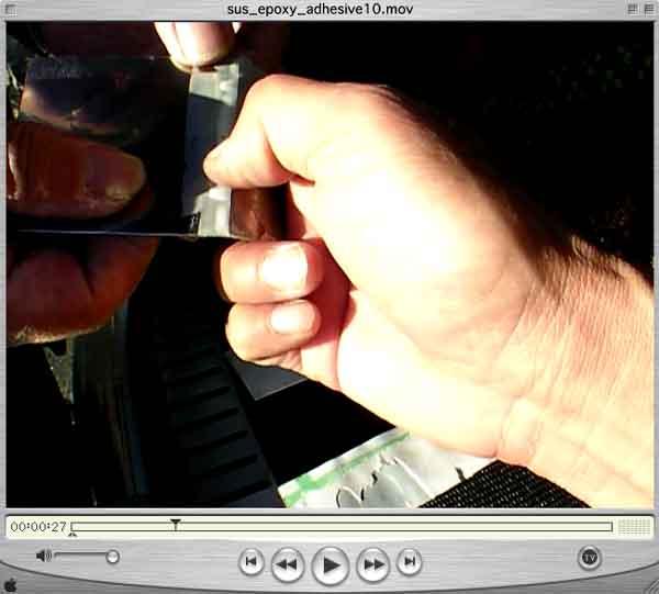 動画写真画像/ステンレスとステンレスを接着する接着剤って
