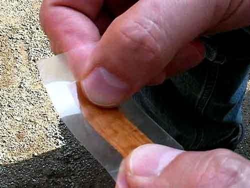 木の薄板=突板・・エポキシで固めた・・常温硬化で??